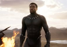 "FILE - This file image released by Disney and Marvel Studios' shows Chadwick Boseman in a scene from ""Black Panther."" ""Black Panther"" has become the first film since 2000's ""Avatar"" to top the weekend box office five straight weekends. According to studio estimates Sunday, March 18, 2018, ""Black Panther"" grossed $27 million in ticket sales over the weekend, pushing its domestic haul to $605.4 million. (Marvel Studios/Disney via AP, File)"