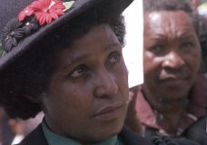 FILE -- In this March 5, 1986 file photo Winnie Mandela mourns the death of 17 black activists at a funeral service held in Johannesburg, South Africa. Madikizela-Mandela, prominent anti-apartheid activist and the ex-wife of Nelson Mandela, died in a hospital on Monday, April 2, 2018 after a long illness, her family said Monday. She was 81. (AP Photo/Greg English, File)