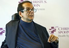 FILE - In this March 31, 2015, file photo, Charles Krauthammer talks about getting into politics during a news conference in Corpus Christi, Texas. The conservative writer and pundit Krauthammer has died. His death was announced Thursday, June 21, 2018, by two media organizations that employed him, Fox News Channel and The Washington Post. He was 68. (Gabe Hernandez/Corpus Christi Caller-Times via AP, File)