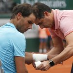 Nadal Drops Set, But Rain Suspends French Open Quarterfinal
