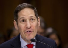 FILE - In this July 13, 2016 file photo, Centers for Disease Control and Prevention Director Tom Frieden testifies on Capitol Hill in Washington. The New York Police Department says Frieden was arrested on Friday, Aug. 24, 2018 in Brooklyn. Frieden surrendered to face charges that he grabbed the buttocks of a woman he knew in his home last October. It says she reported it in July. He is charged with forcible touching, sex abuse and harassment.(AP Photo/Manuel Balce Ceneta, File)