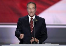 FILE - In this July 19, 2016 file photo, Rep. Chris Collins, R-NY. speaks in Cleveland. Collins was indicted on charges that he used inside information about a biotechnology company to make illicit stock trades. The charges were announced and the indictment unsealed on Wednesday, Aug. 8, 2018. (AP Photo/J. Scott Applewhite, File)