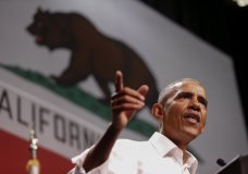 Former President Barack Obama speaks as he campaigns in support of California congressional candidates, Saturday, Sept. 8, 2018, in Anaheim, Calif. (AP Photo/Ringo H.W. Chiu)