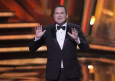 """FILE - In this March 13, 2016, file photo, Norm Macdonald begins as host of the Canadian Screen Awards in Toronto. """"The Tonight Show canceled an appearance by Macdonald after he made comments about the MeToo movement and fellow comedians Louis C.K. and Roseanne Barr. (Peter Power/The Canadian Press via AP, File)"""