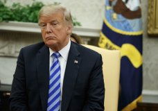 President Donald Trump listens to Emir of Kuwait Sheikh Sabah Al Ahmad Al Sabah during a meeting in the Oval Office of the White House, Wednesday, Sept. 5, 2018, in Washington. (AP Photo/Evan Vucci)