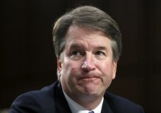 In this Sept. 6, 2018 photo, Supreme Court nominee Brett Kavanaugh reacts as he testifies after questioning before the Senate Judiciary Committee on Capitol Hill in Washington. Official Washington is scrambling Monday to assess and manage Kavanaugh's prospects after his accuser, Christine Blasey Ford, revealed her identity to The Washington Post and described an encounter she believes was attempted rape. Kavanaugh reported to the White House amid the upheaval, but there was no immediate word on why or whether he had been summoned. (AP Photo/Alex Brandon)