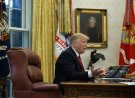 President Donald Trump speaks during an interview with The Associated Press in the Oval Office of the White House, Tuesday, Oct. 16, 2018, in Washington. (AP Photo/Evan Vucci)