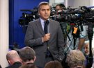 "FILE - In this Aug. 2, 2018 file photo, CNN correspondent Jim Acosta does a stand up before the daily press briefing at the White House in Washington. Acosta says President Donald Trump's attacks on the media must stop or there's a risk someone will get hurt. He is one of the most visible members of the press corps covering Trump and a target for verbal abuse at the president's rallies. He said Monday that Trump has, ""normalized and sanitized nastiness and cruelty"" in an unprecedented way. (AP Photo/Evan Vucci, File)"