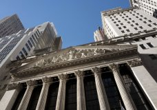 FILE- This Dec. 21, 2016, file photo shows the New York Stock Exchange. The U.S. stock market opens at 9:30 a.m. EDT on Tuesday, Oct. 9, 2018. (AP Photo/Mark Lennihan, File)