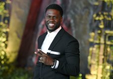 "FILE - In this Dec. 11, 2017 file photo, Kevin Hart arrives at the Los Angeles premiere of ""Jumanji: Welcome to the Jungle"" in Los Angeles. Hart will host the 2019 Academy Awards, fulfilling a lifelong dream for the actor-comedian. Hart announced Tuesday, Dec. 4, 2018, his selection in an Instagram statement and the Academy of Motion Picture Arts and Sciences followed up with a tweet that welcomed him ""to the family."" (Photo by Jordan Strauss/Invision/AP, File)"