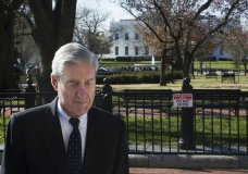 pecial Counsel Robert Mueller walks past the White House after attending services at St. John's Episcopal Church, in Washington, Sunday, March 24, 2019. Mueller closed his long and contentious Russia investigation with no new charges, ending the probe that has cast a dark shadow over Donald Trump's presidency. (AP Photo/Cliff Owen)