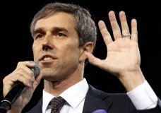 In this April 27, 2019, photo, Democratic presidential candidate and former Texas congressman Beto O'Rourke speaks at a Service Employees International Union forum on labor issues in Las Vegas. O'Rourke has unveiled a sweeping immigration plan to seek a pathway to U.S. citizenship for 11 million people in the country illegally, deploy immigration lawyers to the southern border and earmark $5 billion to bolster the rule of law in Central America. (AP Photo/John Locher)