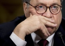 Attorney General William Barr appears at a Senate Judiciary Committee hearing on Capitol Hill in Washington, Wednesday, May 1, 2019, on the Mueller Report. (AP Photo/Andrew Harnik)