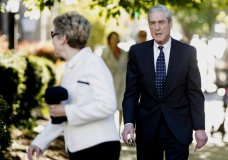 FILE - In this April 21, 2019, file photo, special counsel Robert Mueller and his wife Ann Cabell Standish, left, arrive for Easter services at St. John's Episcopal Church in Washington. Rep. Jerrold Nadler, the chairman of the House Judiciary Committee, says sMueller won't appear before his panel next week, despite the committee's hope that Mueller would testify May 15. (AP Photo/Andrew Harnik, File)