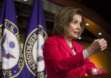 House Speaker Nancy Pelosi of Calif., speaks during her weekly media availability on Capitol Hill, Thursday, June 27, 2019 in Washington. (AP Photo/Alex Brandon)