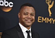 FILE- In this Sept. 18, 2016 file photo, Cuba Gooding Jr. arrives at the 68th Primetime Emmy Awards in Los Angeles. Gooding is expected to turn himself in to the New York Police Department on Thursday, June 13, 2019, after being accused of groping a woman at a midtown Manhattan nightclub Sunday, June 9. (Photo by Jordan Strauss/Invision/AP, File)