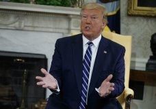 "President Donald Trump speaks during a meeting with Canadian Prime Minister Justin Trudeau in the Oval Office of the White House, Thursday, June 20, 2019, in Washington. Trump declared Thursday that ""Iran made a very big mistake"" in shooting down a U.S. drone but suggested it was an accident rather than a strategic error. (AP Photo/Evan Vucci)"