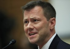 """FILE - In this July 12, 2018, file photo, then-FBI Deputy Assistant Director Peter Strzok, testifies before a House Judiciary Committee joint hearing on """"oversight of FBI and Department of Justice actions surrounding the 2016 election"""" on Capitol Hill in Washington. Strzok, who wrote derogatory text messages about Donald Trump, filed a lawsuit Tuesday charging that the bureau caved to """"unrelenting pressure"""" from the president when it fired him. (AP Photo/Manuel Balce Ceneta)"""