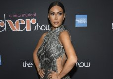 "FILE - This Dec. 3, 2018 file photo shows Kim Kardashian West at ""The Cher Show"" Broadway musical opening night in New York. West's shapewear line Kimono is no more. The new name, changed amid outcry over cultural appropriation, is SKIMS Solutionwear. (Photo by Evan Agostini/Invision/AP, File)"