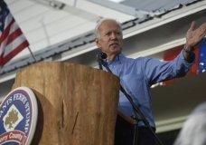 Former Vice President Joe Biden speaks at the Galivants Ferry Stump on Monday, Sept. 16, 2019, in Galivants Ferry, S.C. (AP Photo/Meg Kinnard)