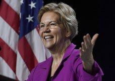 Democratic presidential candidate U.S. Sen. Elizabeth Warren, speaks to delegates during the 2019 Massachusetts Democratic Party Convention, Saturday, Sept. 14, 2019, in Springfield, Mass. (AP Photo/Jessica Hill)