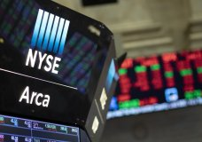 FILE - In this Sept. 18, 2019, photo stock prices are displayed at the New York Stock Exchange. The U.S. stock market opens at 9:30 a.m. EDT on Monday, Sept. 30. (AP Photo/Mark Lennihan, File)