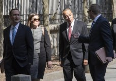ormer U.S. Rep. Chris Collins, second from right, arrives at Federal court, Tuesday, Oct. 1, 2019, in New York. Collins is expected to plead guilty in an insider trading case Tuesday, a day after saying he was quitting Congress. (AP Photo/Mary Altaffer)