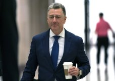 Kurt Volker, a former special envoy to Ukraine, arrives for a closed-door interview with House investigators, as House Democrats proceed with the impeachment inquiry of President Donald Trump, at the Capitol in Washington, Thursday, Oct. 3, 2019. (AP Photo/J. Scott Applewhite)