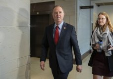 Rep. Adam Schiff, D-Calif., Chairman of the House Intelligence Committee arrives for a formerly planned joint committee deposition with Ambassador Gordon Sondland, with the transcript to be part of the impeachment inquiry into President Donald Trump, on Capitol Hill in Washington, Tuesday, Oct. 8, 2019. The Trump Administration ordered Ambassador Sondland not to appear. (AP Photo/Manuel Balce Ceneta)