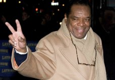 "FILE - In this Dec. 21, 2009, file photo, John Witherspoon leaves a taping of ""The Late Show with David Letterman"" in New York. Actor-comedian Witherspoon, who memorably played Ice Cube's father in the ""Friday"" films, has died at age 77. Witherspoon's manager Alex Goodman confirmed late Tuesday, Oct. 29, 2019, that Witherspoon died in Los Angeles. (AP Photo/Charles Sykes, File)"