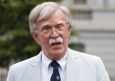 ILE - In this July 31, 2019 file photo, National security adviser John Bolton speaks to media at the White House in Washington. (AP Photo/Carolyn Kaster)