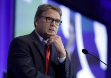 FILE - In this Sept. 6, 2019, file photo, Energy Secretary Rick Perry speaks at the California GOP fall convention in Indian Wells, Calif. (AP Photo/Chris Carlson, File)