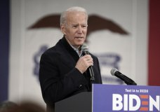 Democratic presidential candidate and former Vice President Joe Biden speaks during a campaign stop in Council Bluffs, Iowa, Wednesday, Jan. 29, 2020. (AP Photo/Nati Harnik)