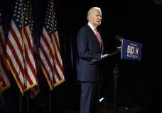 Democratic presidential candidate former Vice President Joe Biden speaks about the coronavirus Thursday, March 12, 2020, in Wilmington, Del. (AP Photo/Matt Rourke)