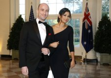 FILE - In this Sept. 20, 2019, file photo President Donald Trump's White House Senior Adviser Stephen Miller, left, and Katie Waldman, now Miller, arrive for a State Dinner with Australian Prime Minister Scott Morrison and President Donald Trump at the White House in Washington. Vice President Mike Pence's press secretary has the coronavirus, the White House said Friday, making her the second person who works at the White House complex known to test positive for the virus this week. Pence spokeswoman Katie Miller, who tested positive Friday, May 8, 2020, had been in recent contact with Pence but not with the president. (AP Photo/Patrick Semansky, File) AP NEWS Top Stories Video Contact Us DOWNLOAD AP NEWS Connect with the definitive source for global and local news MORE FROM AP ap.org AP Insights AP Definitive Source AP Images Spotlight AP Explore AP Books FOLLOW AP THE ASSOCIATED PRESS About Contact Customer Support Careers Terms & Conditions Privacy All contents © copyright 2020 The Associated Press. All rights reserved.