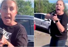 A white woman was seen pointing a gun at a Black family in Michigan on Wednesday after an argument. Twitter/@makaysmith10