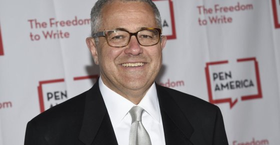 """FILE - Lawyer and author Jeffrey Toobin attends the 2018 PEN Literary Gala in New York on May 22, 2018. Toobin has been suspended by the New Yorker and is stepping away from his job as CNN's senior legal analyst pending what the cable network is calling a """"personal matter."""" (Photo by Evan Agostini/Invision/AP, File)"""