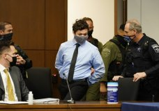 Kyle Rittenhouse appears for an extradition hearing in Lake County court Friday, Oct. 30, 2020, in Waukegan, Ill. The 17-year-old is accused of killing two demonstrators in Kenosha, Wis., on Aug. 25, 2020, two days after a police officer trying to arrest Jacob Blake shot him seven times in the back, paralyzing him from the waist down. (AP Photo/Nam Y. Huh, Pool)