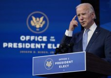 "President-elect Joe Biden speaks at The Queen theater in Wilmington, Del., Wednesday, Jan. 6, 2021. Biden has called the violent protests on the U.S. Capitol ""an assault on the most sacred of American undertakings: the doing of the people's business."" (AP Photo/Susan Walsh)"
