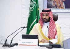 "FILE - In this Sunday, Nov. 22, 2020, file photo, Saudi Arabia's Crown Prince Mohammed bin Salman attends a virtual G-20 summit held over video conferencing, in Riyadh, Saudi Arabia. Saudi Arabia's royal court says Crown Prince Mohammed bin Salman underwent a ""successful surgery"" for appendicitis on Wednesday, Feb. 24, 2021, and left the hospital soon after the operation. The 35-year-old Prince Mohammed had laparoscopic surgery at the King Faisal Specialist Hospital in the Saudi capital of Riyadh in the morning. (Bandar Aljaloud/Saudi Royal Palace via AP, File)"