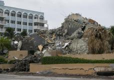 Rubble and debris of the Champlain Towers South condo can be seen Tuesday, July 6, 2021 in Surfside, Fla. Officials overseeing the search at the site of the Florida condominium collapse seem increasingly somber about the prospects for finding anyone alive. They said Tuesday that crews have detected no new signs of life in the rubble nearly two weeks after the disaster struck at the Champlain Towers South building in Surfside. (Carl Juste/Miami Herald via AP) AP NEWS Top Stories Video Contact Us Cookie Settings DOWNLOAD AP NEWS Connect with the definitive source for global and local news MORE FROM AP ap.org AP Insights AP Definitive Source AP Images Spotlight AP Explore AP Books FOLLOW AP THE ASSOCIATED PRESS About Contact Customer Support Careers Terms & Conditions Privacy All contents © copyright 2021 The Associated Press. All rights reserved.