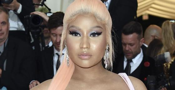 """FILE - In this Monday, May 6, 2019, file photo, Nicki Minaj attends The Metropolitan Museum of Art's Costume Institute benefit gala in New York. On Friday, Sept. 17, 2021, The Associated Press reported on stories circulating online incorrectly asserting COVID-19 vaccines cause impotency and swollen testicles after a tweet by Minaj. But experts say there is no data to support the idea that the vaccines cause those side effects. """"We have never seen that,"""" said Dr. Ranjith Ramasamy, director of male reproductive medicine and surgery at the University of Miami's health system. Orchitis, a condition that can result in swollen testicles, can follow a bacterial infection, such as a sexually transmitted infection. (Photo by Evan Agostini/Invision/AP, File)"""