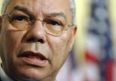 FILE - U.S. Secretary of State Colin Powell makes a statement to the media after a meeting at U.N. headquarters, Thursday, Aug. 21, 2003. Powell, former Joint Chiefs chairman and secretary of state, has died from COVID-19 complications. In an announcement on social media Monday, Oct. 18, 2021 the family said Powell had been fully vaccinated. He was 84. (AP Photo/Mary Altaffer, file)