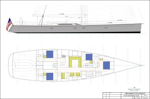 small resolution of designer front street shipyard length over all 84 0 length on deck 80 5 length waterline 76 7 beam max 20 1 draft 10 0