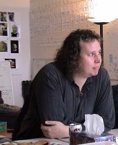 Chris Wheeler in the FARSCAPE writers room, 2001