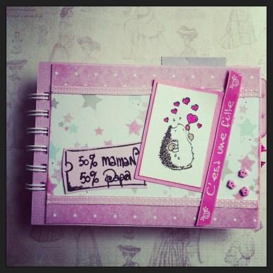 Version Fille mini album scrapbooking tuto1