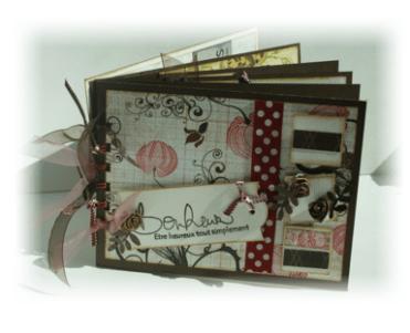 Album Photos scrapbooking plaisir bonheur chocolat