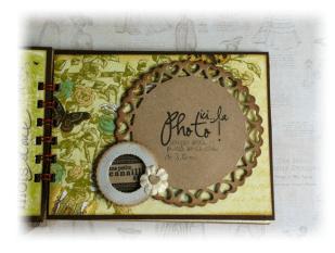 Album Photos scrapbooking plaisir bonheur chocolat2
