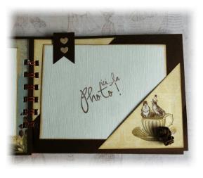 Album Photos scrapbooking plaisir bonheur chocolat7