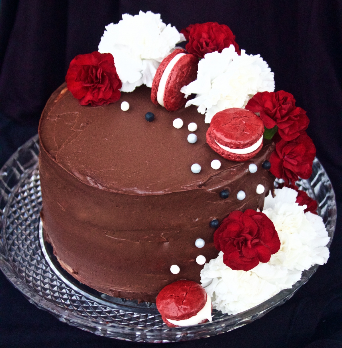 Red Velvet Layer Cake With White Chocolate Mousse And